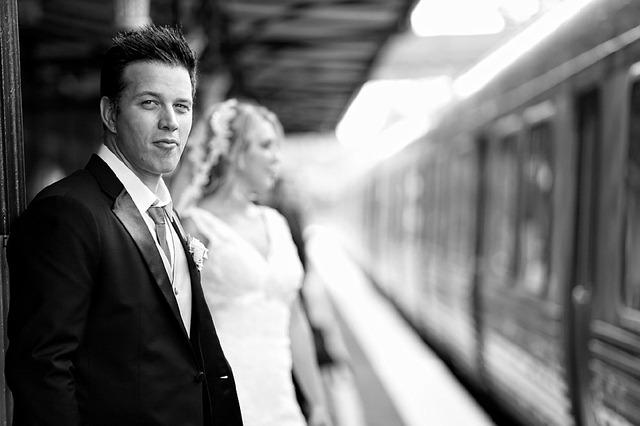 Zdjęcie ślubne pary młodej