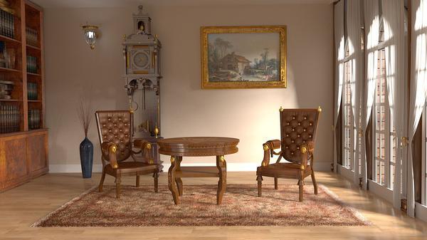 krzesło pikowane z kołatką